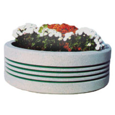 Cast concrete circular planter