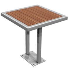 Commercial outdoor table
