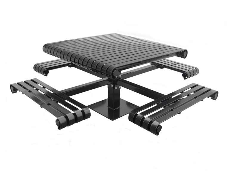 Picnic table for commercial outdoor or park with bench Canada
