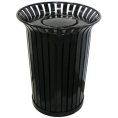 Aluminum waste and recycling bin